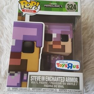 Funko Minecraft Steve in Enchanted Armor #324